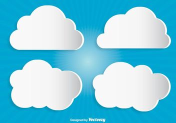Modern Vector Clouds - vector gratuit #141005