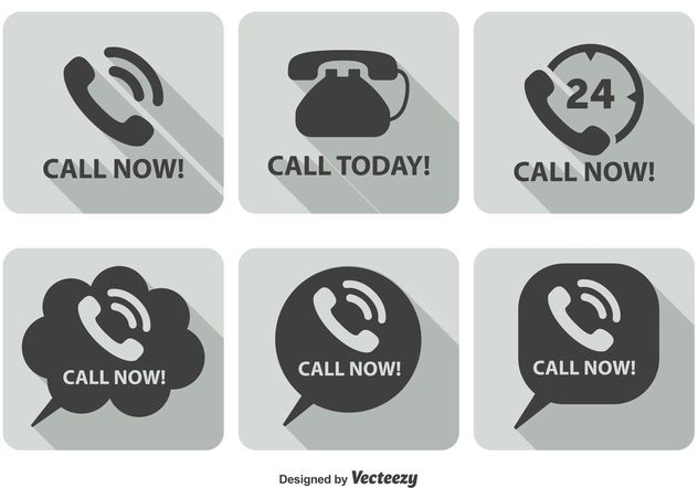 Call Now Icon Set - vector #141125 gratis
