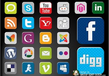 Social Icons Vector - Free vector #141165