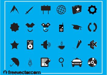 Random Icon Set - vector gratuit #141225