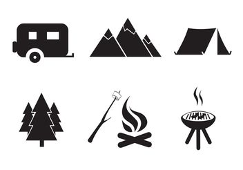 Vector Free Camping Icon Set - бесплатный vector #141275