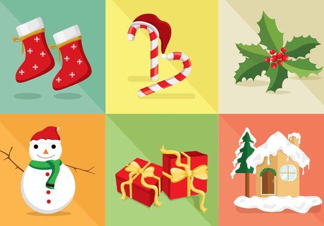 Christmas Icon Vector Set - Kostenloses vector #141305