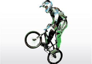 BMX Rider - Free vector #141365