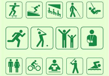 Person Symbols Set - Free vector #141385