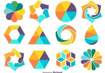 Colorful Shape Set - Free vector #141635