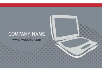 Computer Visiting Card Designs - vector gratuit #141665