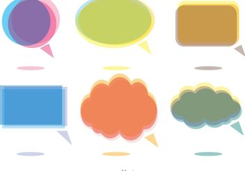 Colorful Chat Icons Vector Pack - Free vector #141715