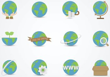 Free Earth Globe Vector Flat Icons - Kostenloses vector #141815