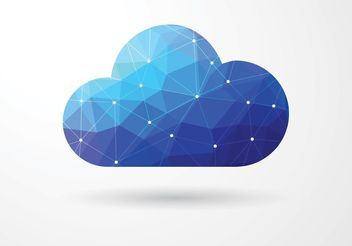 Free Vector Polygonal Cloud Computing Concept - Free vector #141835
