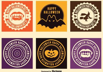 Halloween Labels - vector gratuit #141875