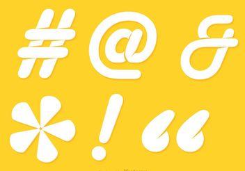 Hashtag Sosial Media White Symbol Vector - Free vector #141905