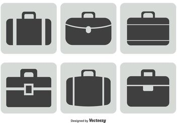 Briefcase Icon Set - vector gratuit #141925