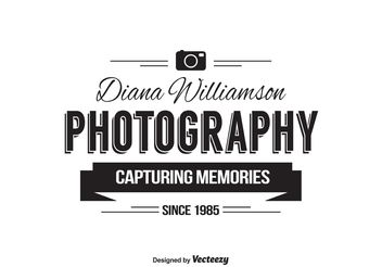 Photographer Logo Template - Free vector #142045
