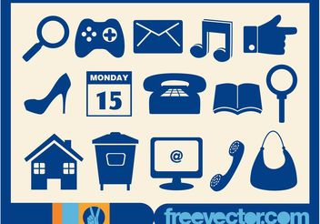 Icons Graphics - Free vector #142095