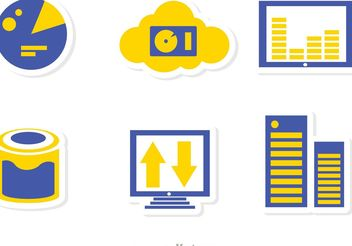 Big Data Management Icons Vector Pack 4 - Free vector #142225
