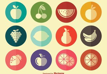 Simple Fruit Icons - Free vector #142275