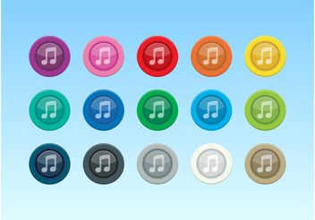 Colorful Music Icons - Free vector #142305
