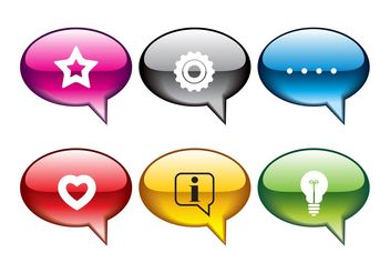 Speech Bubbles Icons - vector gratuit #142325