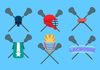 Lacrosse Sticks Logo Vectors - Kostenloses vector #142365