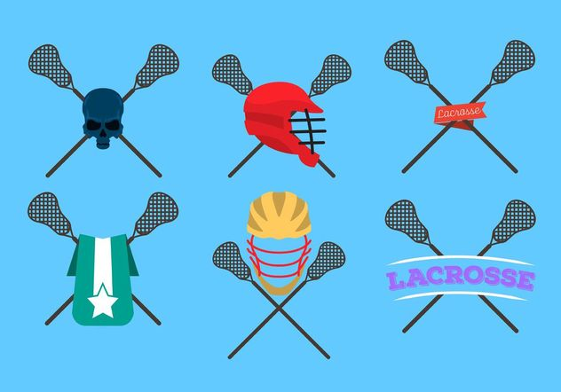 Lacrosse Sticks Logo Vectors - vector gratuit #142365