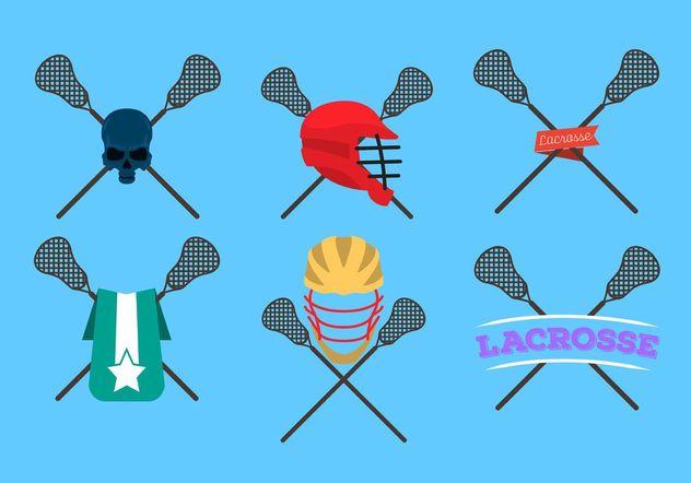 Lacrosse Sticks Logo Vectors - бесплатный vector #142365