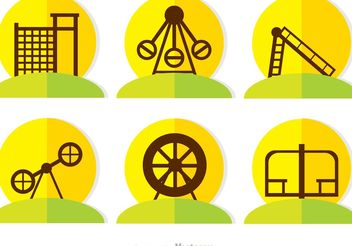 Flat Icons Playground Vector Pack - Free vector #142455