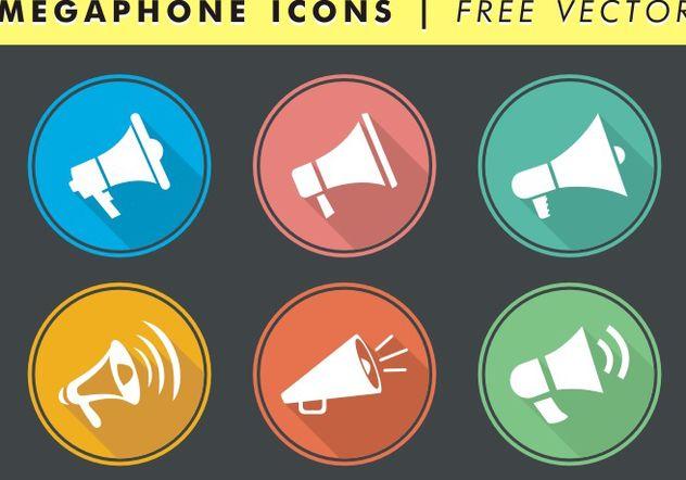 Megaphone Icons Free Vector - Kostenloses vector #142465