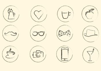 Miscellaneous Sketchy Vector Icons - Free vector #142545