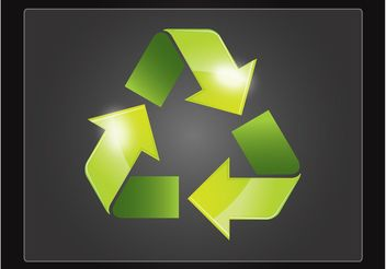 Recycle Symbol - vector gratuit #142605