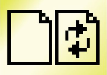 Pixelated File Icons - Free vector #142825