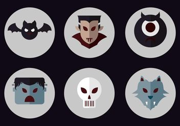 Dracula Vector Icon Set - Kostenloses vector #142835