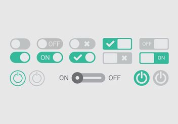 On Off Button Vectors - vector gratuit #142855