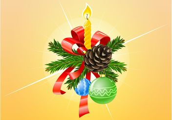 Vector Christmas Ornaments - Free vector #142915