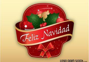 Feliz Navidad - vector #142965 gratis