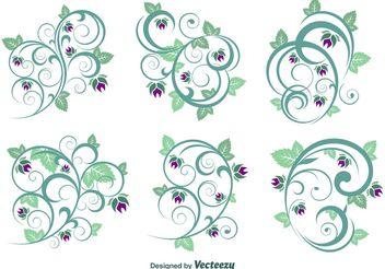 Floral Ornament Vectors - Free vector #142975