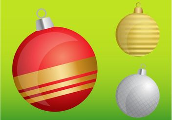 Christmas Ball Ornaments - Free vector #143025
