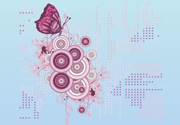 Butterfly Decoration Vector - vector gratuit #143115