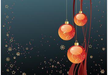 Merry Christmas Wallpaper - Free vector #143175