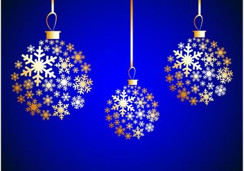 Winter Ornaments - Free vector #143195