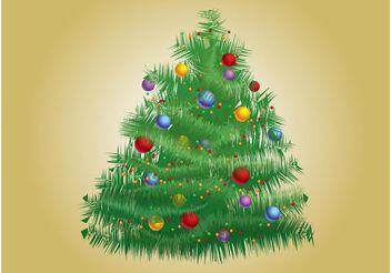 Xmas Tree Vector - Kostenloses vector #143225