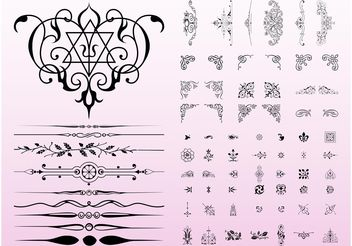 Antique Decorations - Free vector #143265