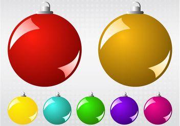 Vector Christmas Balls - vector gratuit #143285