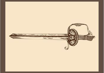 Antique Sword Graphics - Free vector #143335
