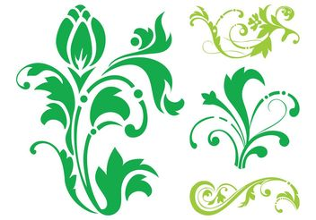 Floral Silhouettes Set - Kostenloses vector #143365
