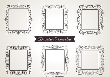 Decorative Vector Frames - Free vector #143405
