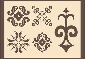 Retro Flourishes - vector gratuit #143475