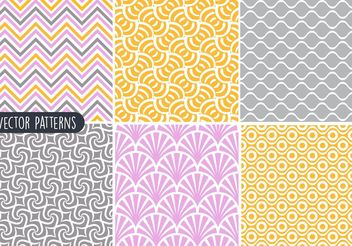 Funky Geometric Pattern Vector Set - Free vector #143575