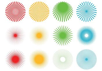 Starburst Patterns Pack - Free vector #143585