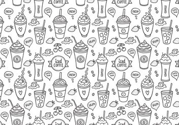 Free Iced Coffee Seamless Pattern Vector - vector gratuit(e) #143755