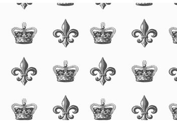 Free Heraldic Vector Seamless Pattern - Free vector #143775